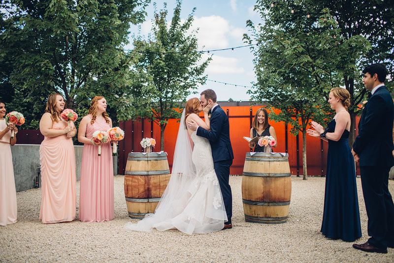 Januik Novelty Hill winery wedding photography