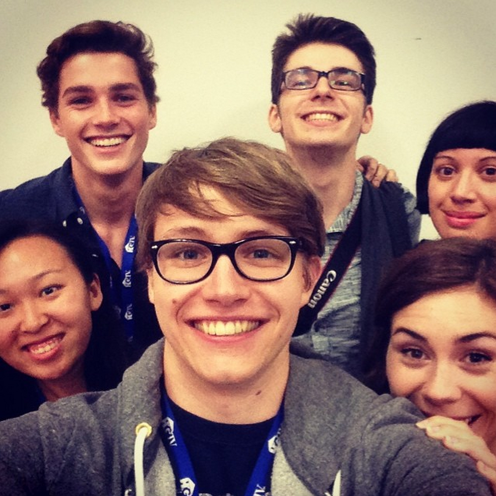 (Left to Right) Yulin Kuang, Jack Harries, Charlie McDonnell, Tim Hautekiet, Emily Diana Ruth (that's me!) and Jeanette Bonds. Had to get group selfie once we were through - was very proud!