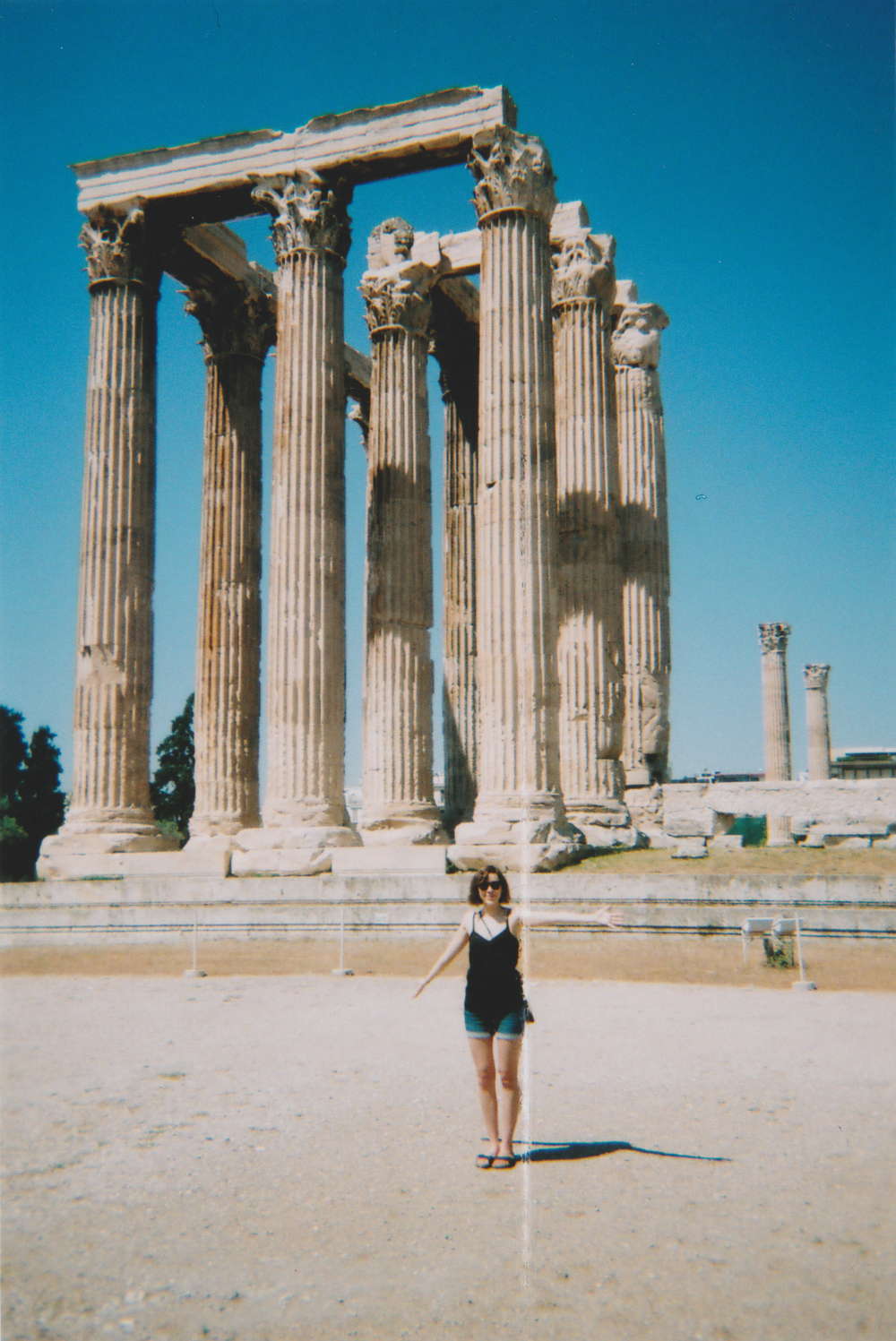 At the Temple of Olympian Zeus in Athens.