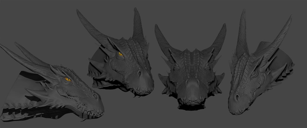Dragon head sculpt