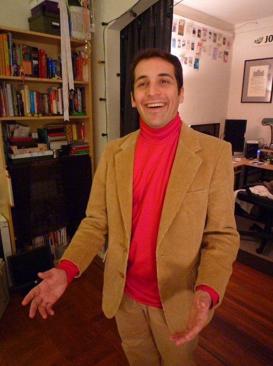 Me dressed as Carl Sagan a few years ago for Halloween.