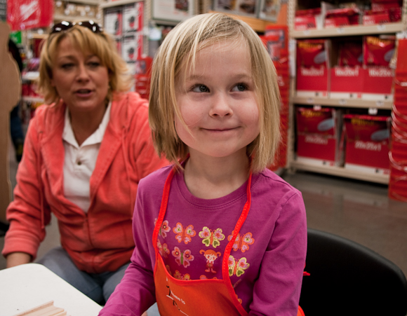 Mia at Home Depot