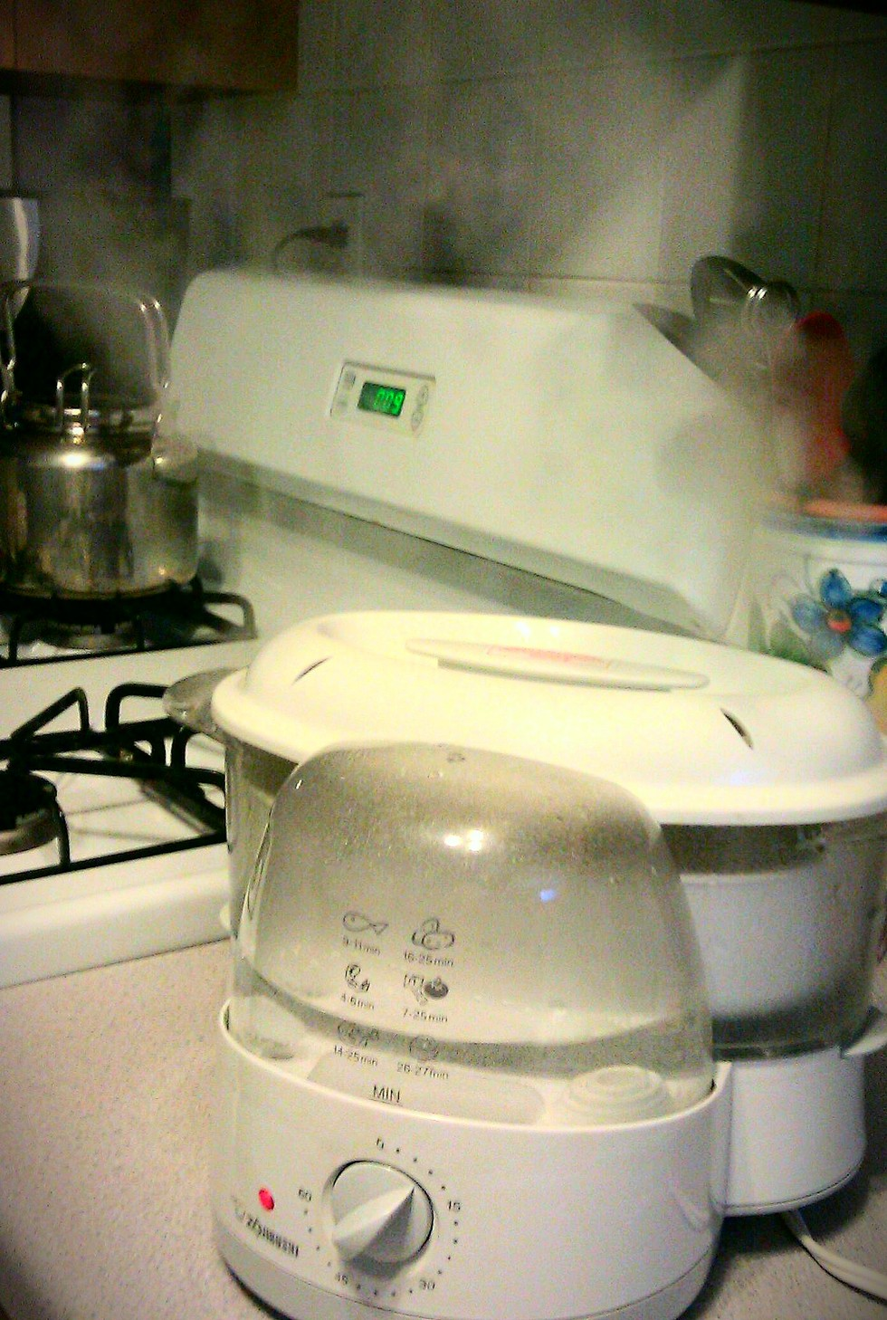 Steaming-rice