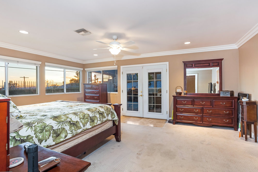 reverse view of master bedroom