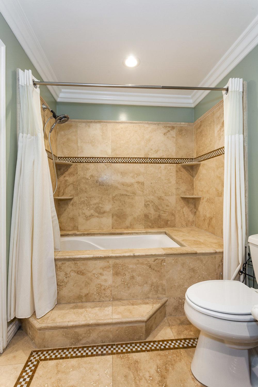 detail of master bathroom shower tile