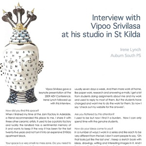 Interview with Vipoo Srivilasa The Journal of Art Education Victoria