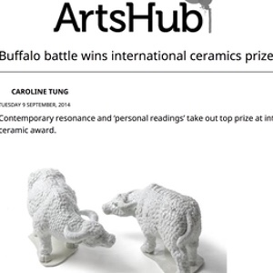 ArtsHub  : Buffalo battle wins international ceramics prize, September 2014