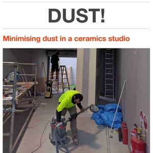 Minimising dust in a ceramics studio by Vipoo Srivilasa, 21/07/2016