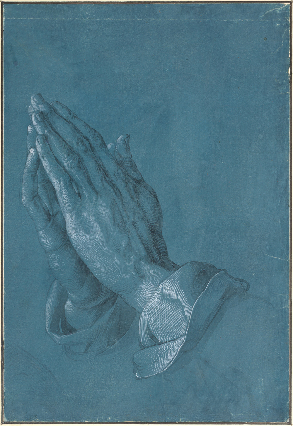 "Studie zu den Händen eines Apostels (""Study of the Hands of an Apostle,"" also known as Betende Hände (""Praying Hands"")), c. 1508, by German artist Albrecht Dürer [Public domain], via Wikimedia Commons"