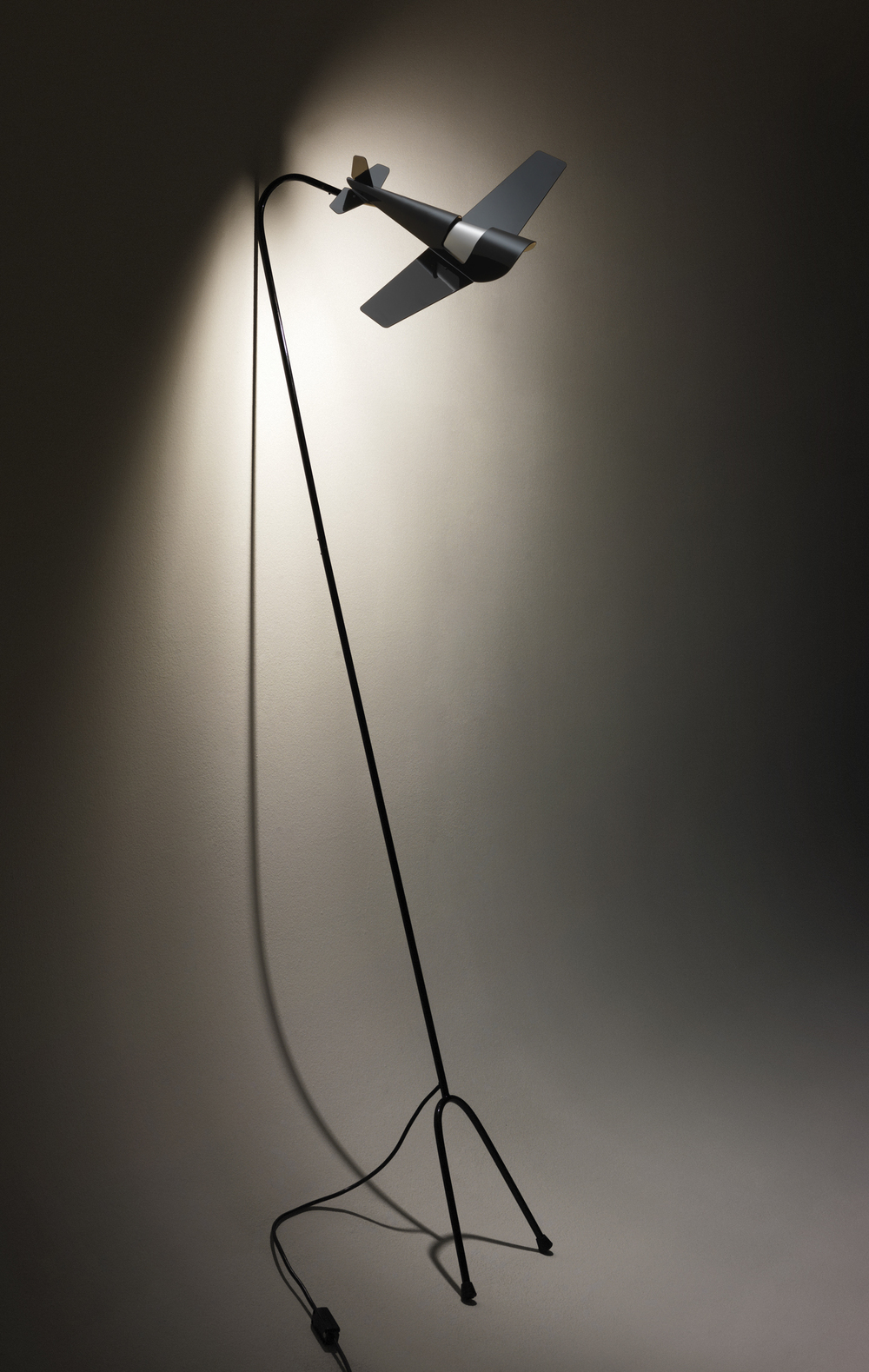 Aircraft Floor Lamp (prototype) | 2010 | Powder Coated Steel, Stainless Steel, 240v Lighting Components | 1.8M