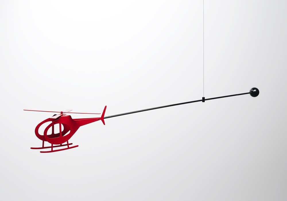 Helicopter Mobile (prototype) | 2010 | Powder Coated Aluminium, Stainless Steel | 1M