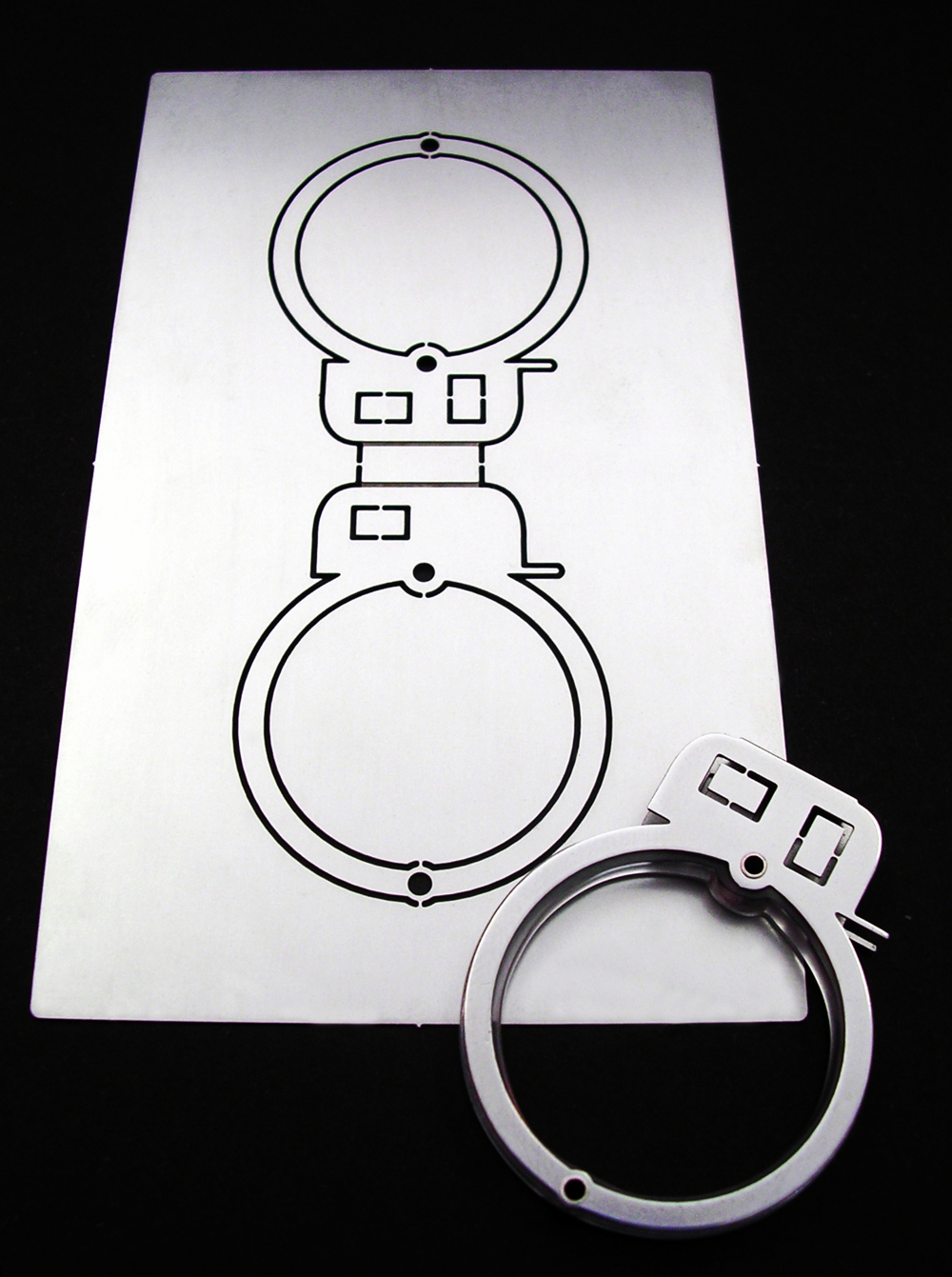 Caravan Card Ring Set  | 2005 | Stainless Steel, Acrylic |