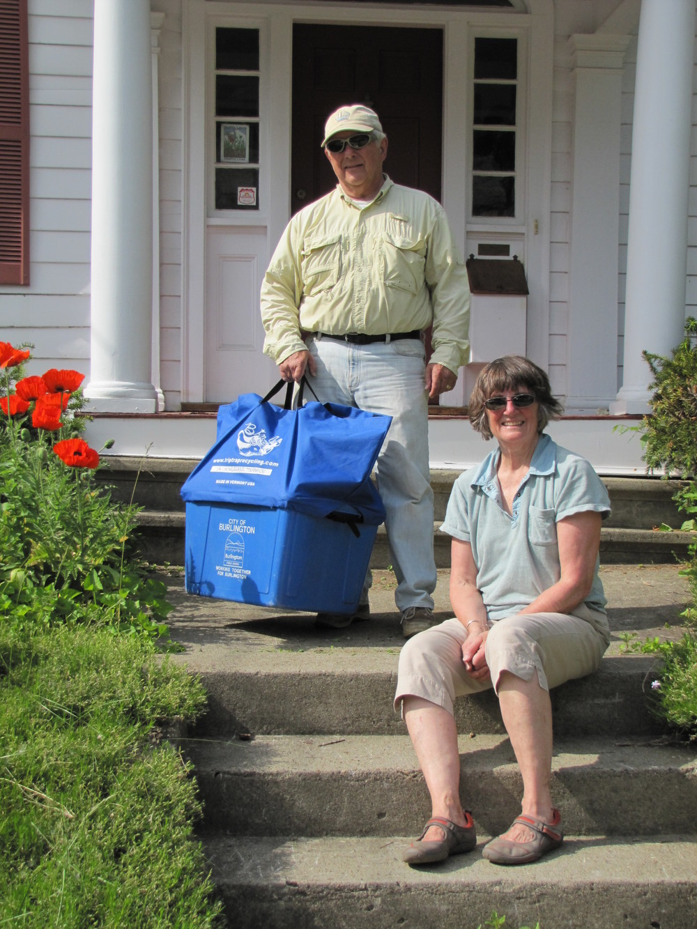 """ I heartily endorse using the bin genie.  I think it should be mandatory for all recycling customers using the small blue bins."" -jerry manock, senior product design engineer, burlington, vermont"