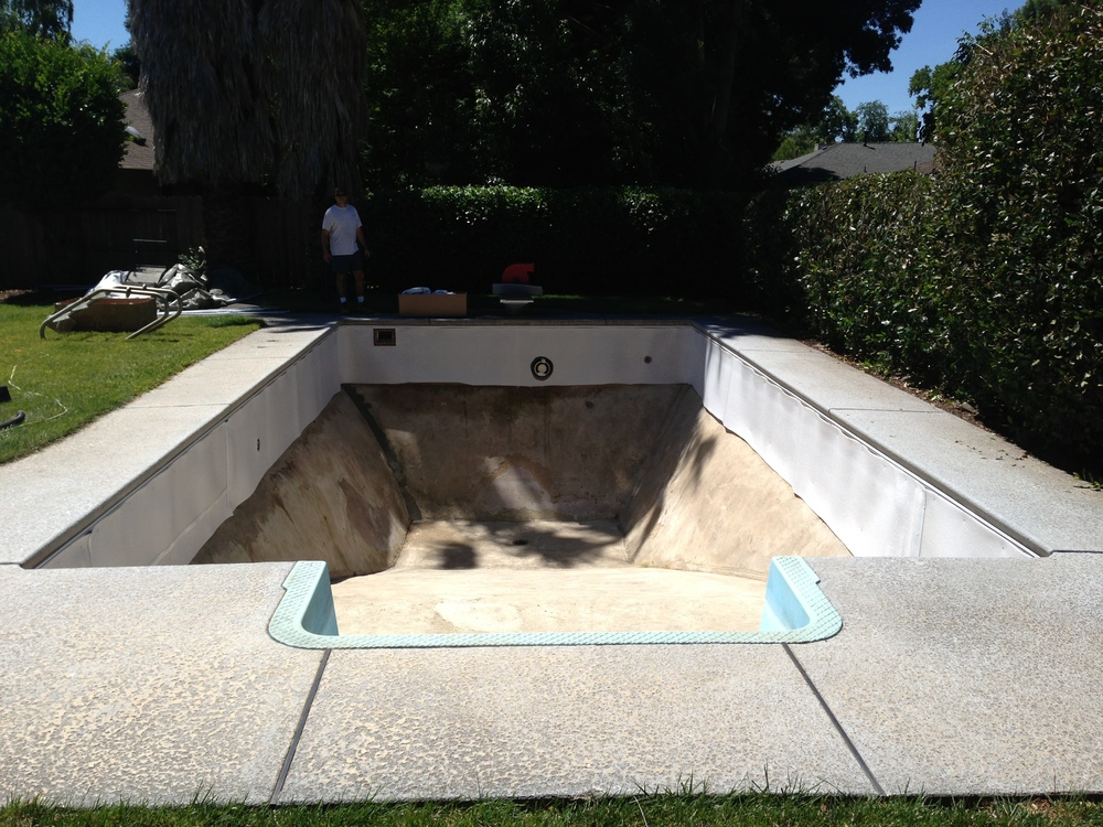 16x32 Inground Reline In Chico Ca Above The Rest Pools