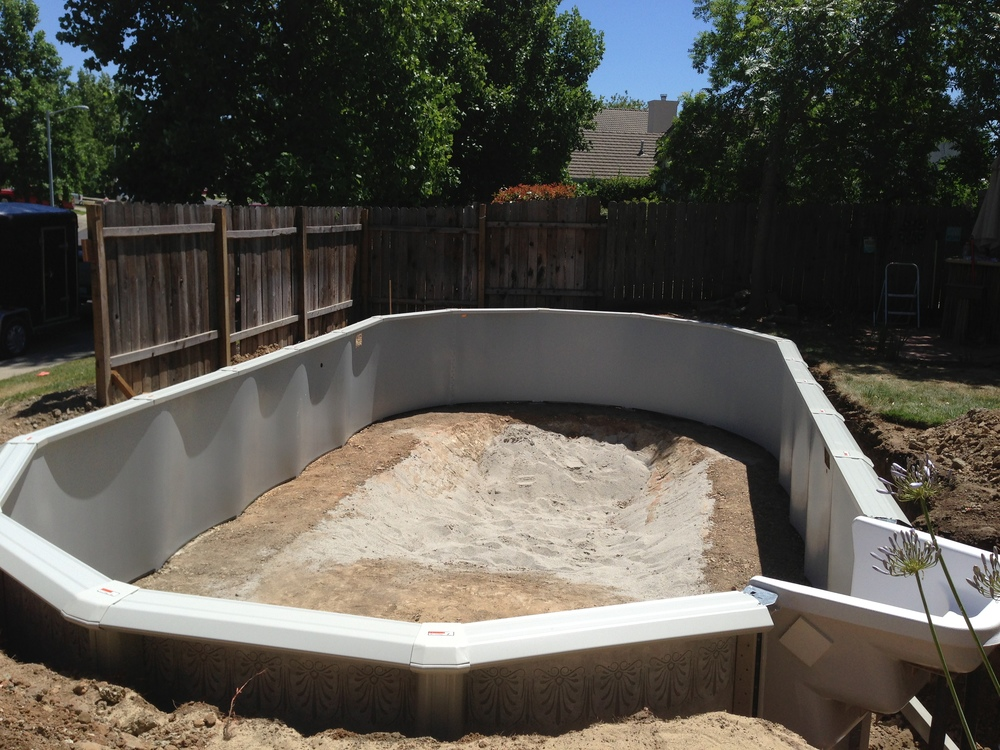 16x32 installed in roseville ca above the rest pools inc for Doughboy above ground swimming pools