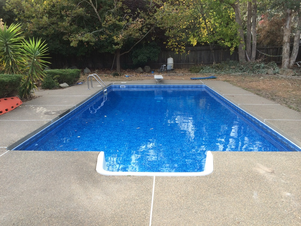 16x32 inground reline in el dorado hills ca above the for 16x32 pool design
