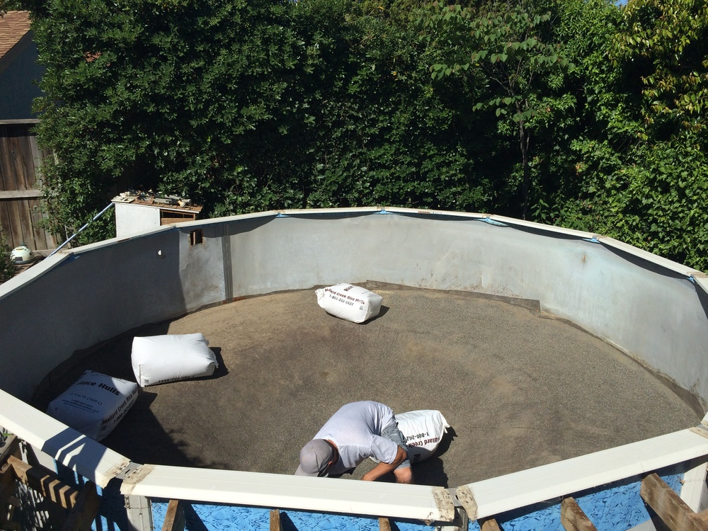 A Muskin Pool Getting A Face Lift