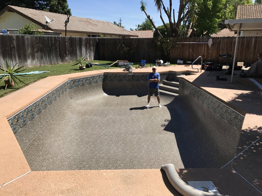 16x32 inground vinyl liner replacement in yuba city ca for Liner waterair