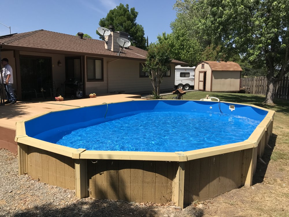 16x24 Above Ground Pool Liner Installation In Red Bluff Ca Above The Rest Pools Inc