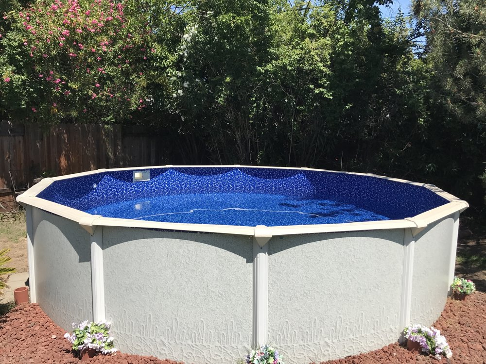 18 39 above ground pool liner installation in sacramento ca for Pool durchmesser 4 50
