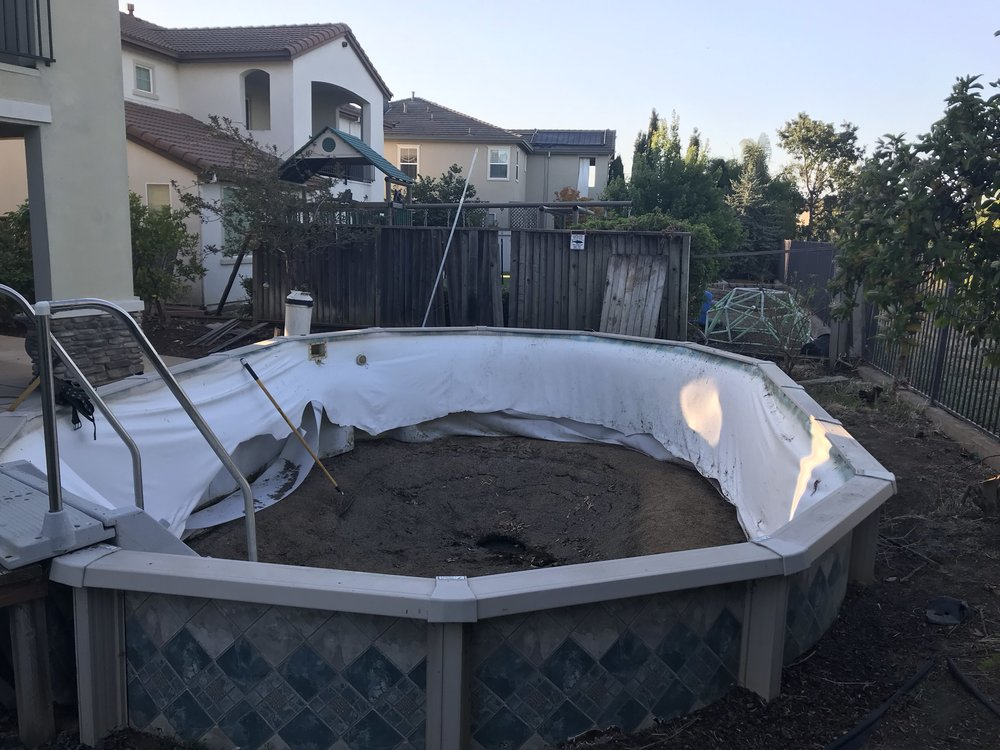 16x24 above ground pool liner installation in west Liner 5 50 x 1 32