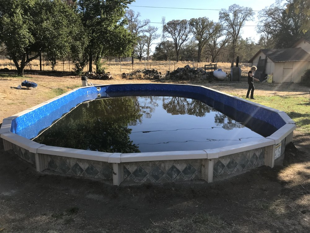 21x41 above ground pool liner installation in orangevale ca above the rest pools inc for Above ground swimming pool liner replacement