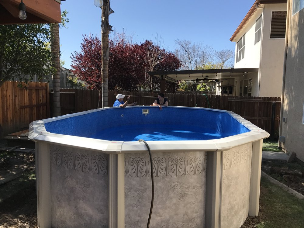12x20 Above Ground Pool Installation In West Sacramento