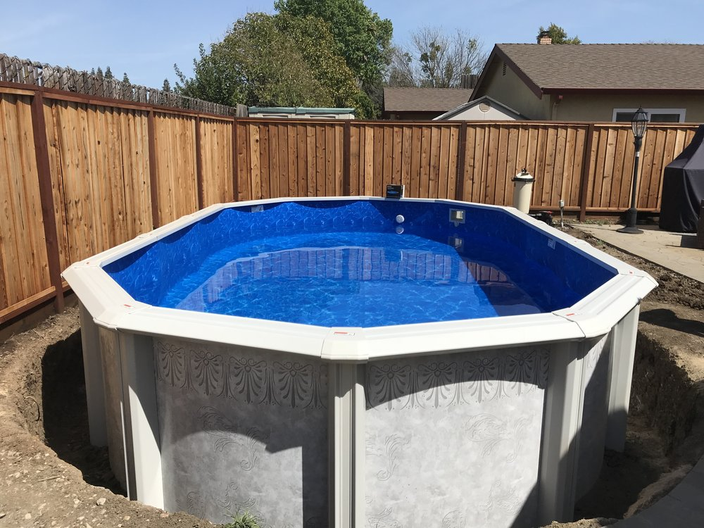 12x20 Above Ground Pool Installation In Fairfield Ca