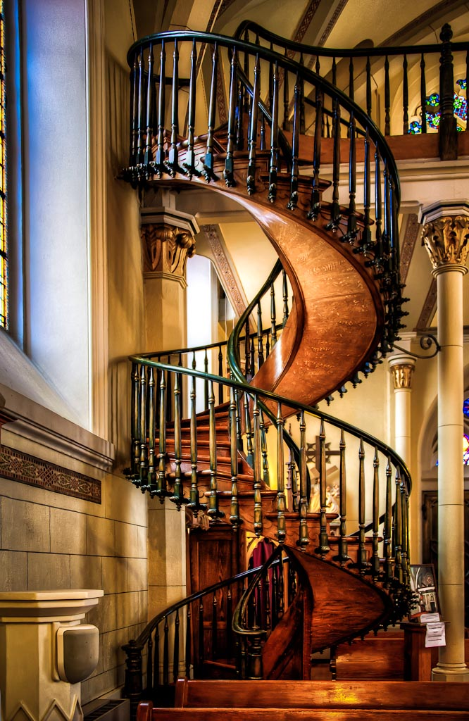 The miraculous staircase lens eyeview photography for 2 story spiral staircase