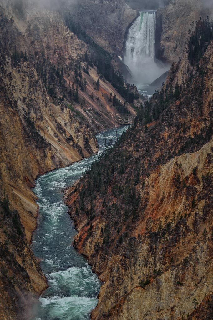 Artist Point, Grand Canyon of the Yellowstone, Lower Falls, Yellowstone National Park, Wyoming