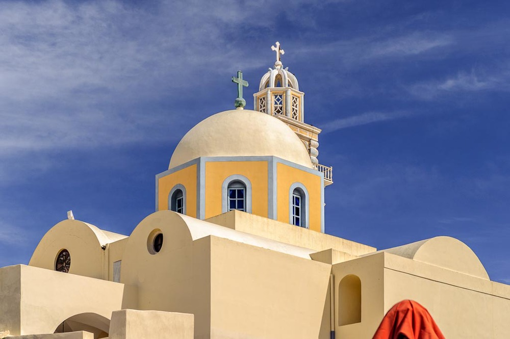 The Catholic Cathedral of Santorini, Fira, Santorini, Greece