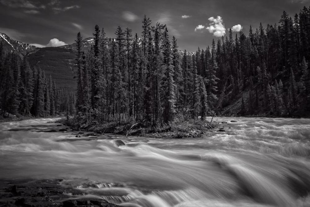 Sumwapta Falls, Jasper National Park, Alberta