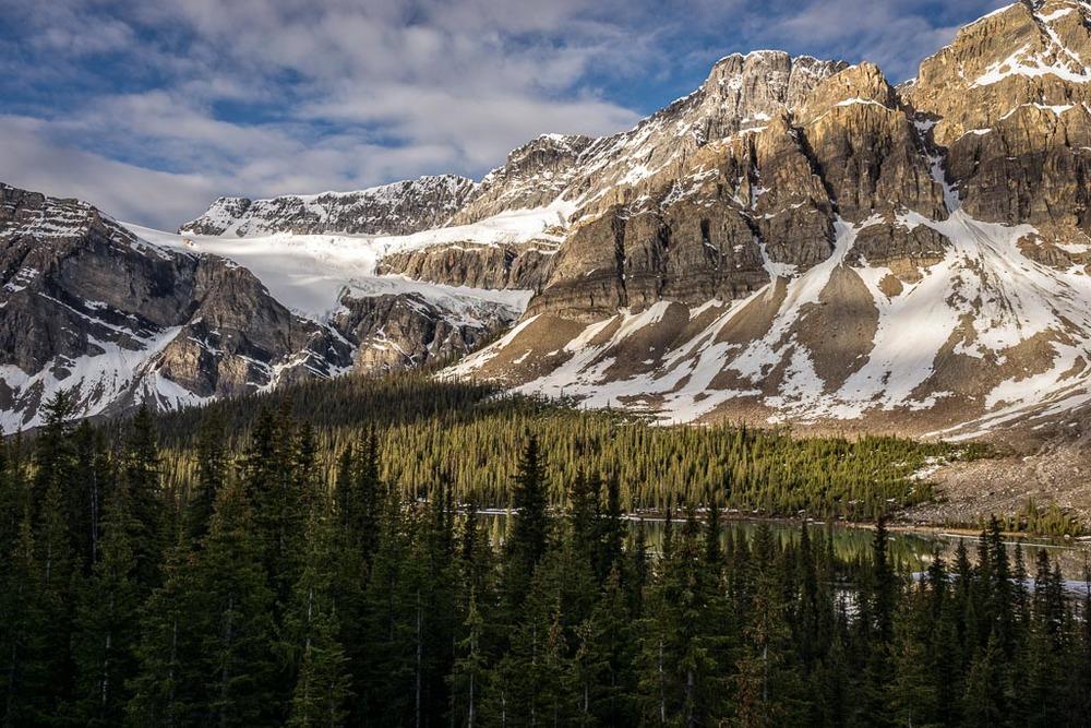 Crowfoot Glacier, Icefields Parkway, Banff National Park, Alberta, Canada