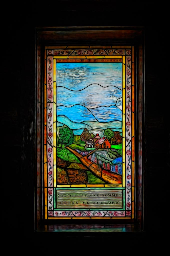 Stained Glass From The Chapel of the Transfiguration, Grand Teton National Park, Wyoming