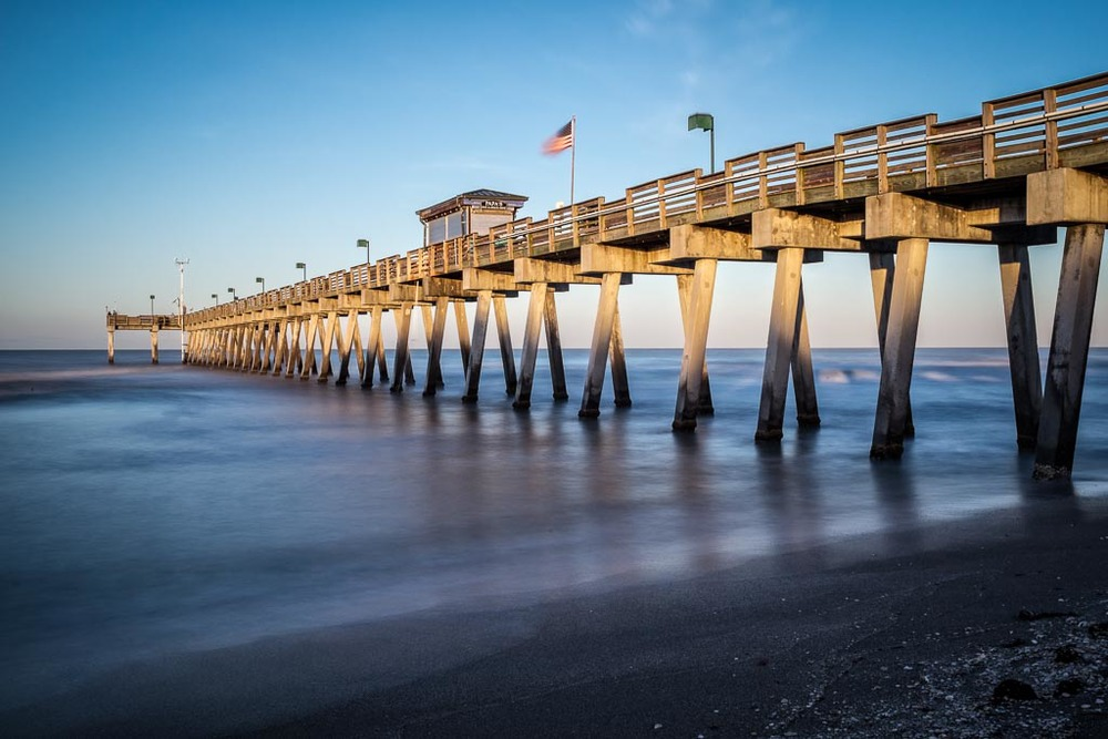 First morning in warm weather venice florida lens for Sarasota fishing pier