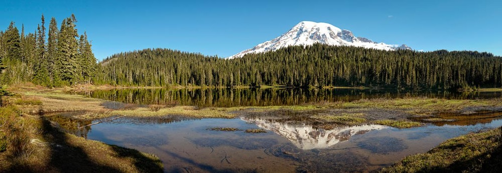 Mount Rainier and Reflection Lake, Mount Rainier National Park, Washington