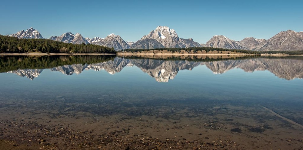 Cathloic Bay, Jackson Lake, Grand Teton National Park, Wyoming
