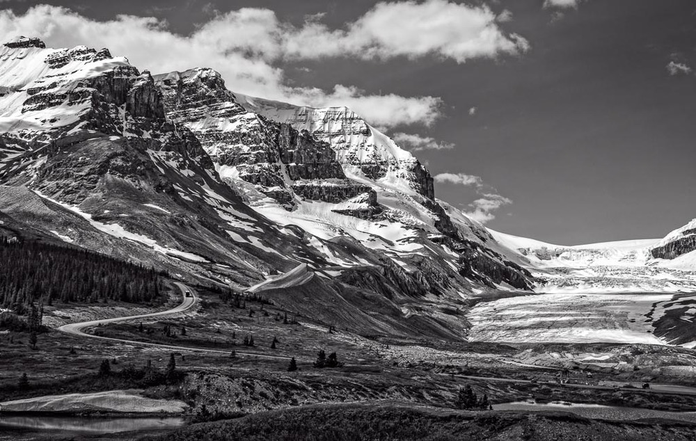 Road to Athabasca Glacier