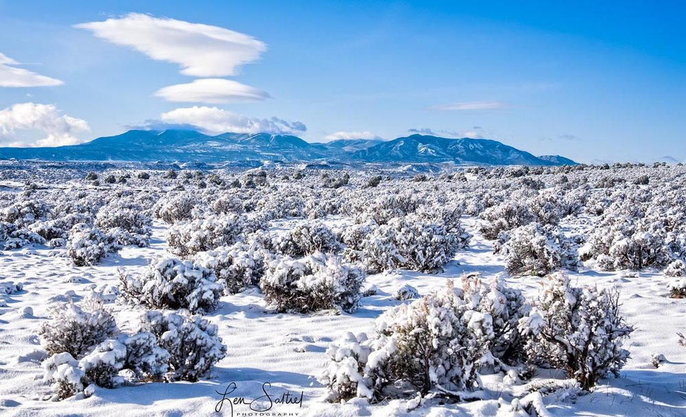 Moab Snowfall