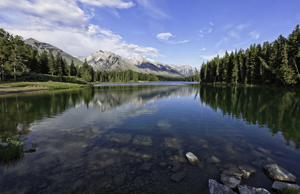 Johnson Lake Beauty - Banff National Park, Alberta