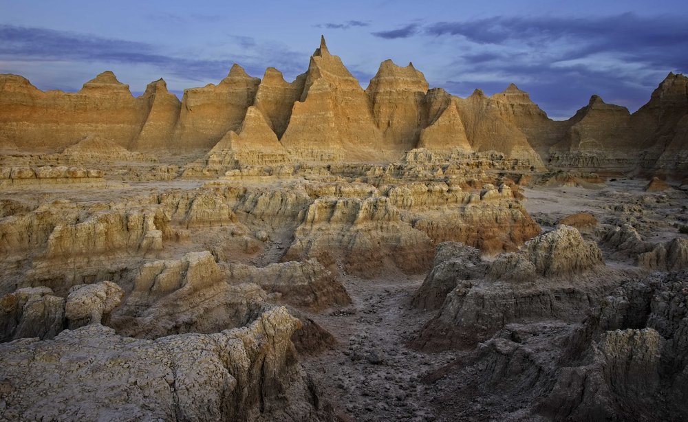 Glowing Wall - Badlands National Park, South Dakota
