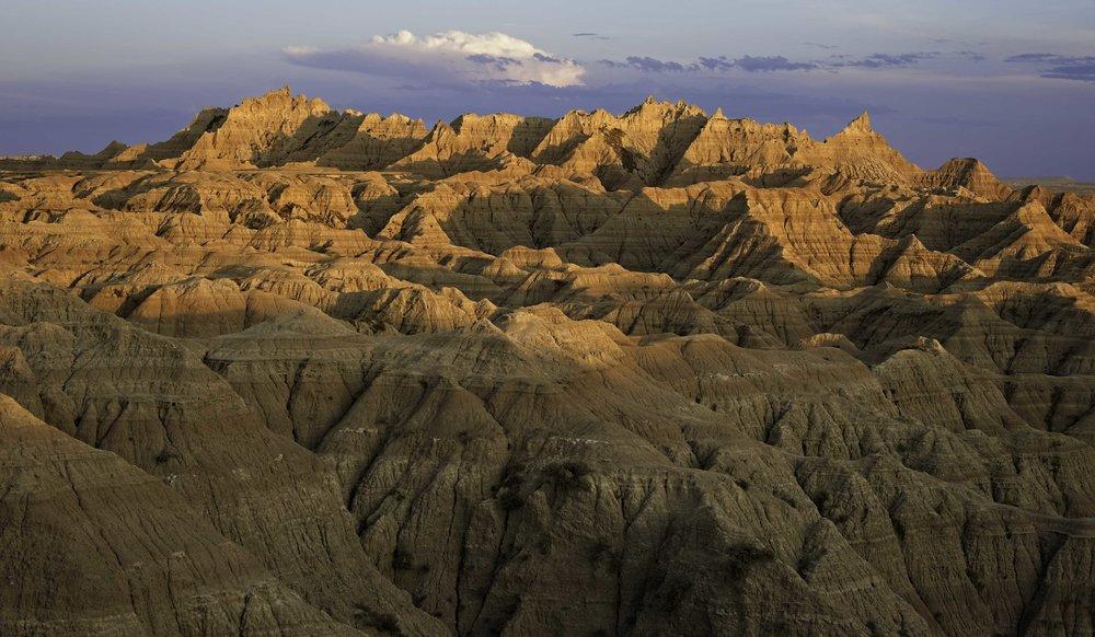 Golden Sunset - Badlands National Park
