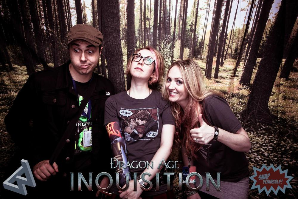 Ash, me, and Hilary in the BioWare photobooth.