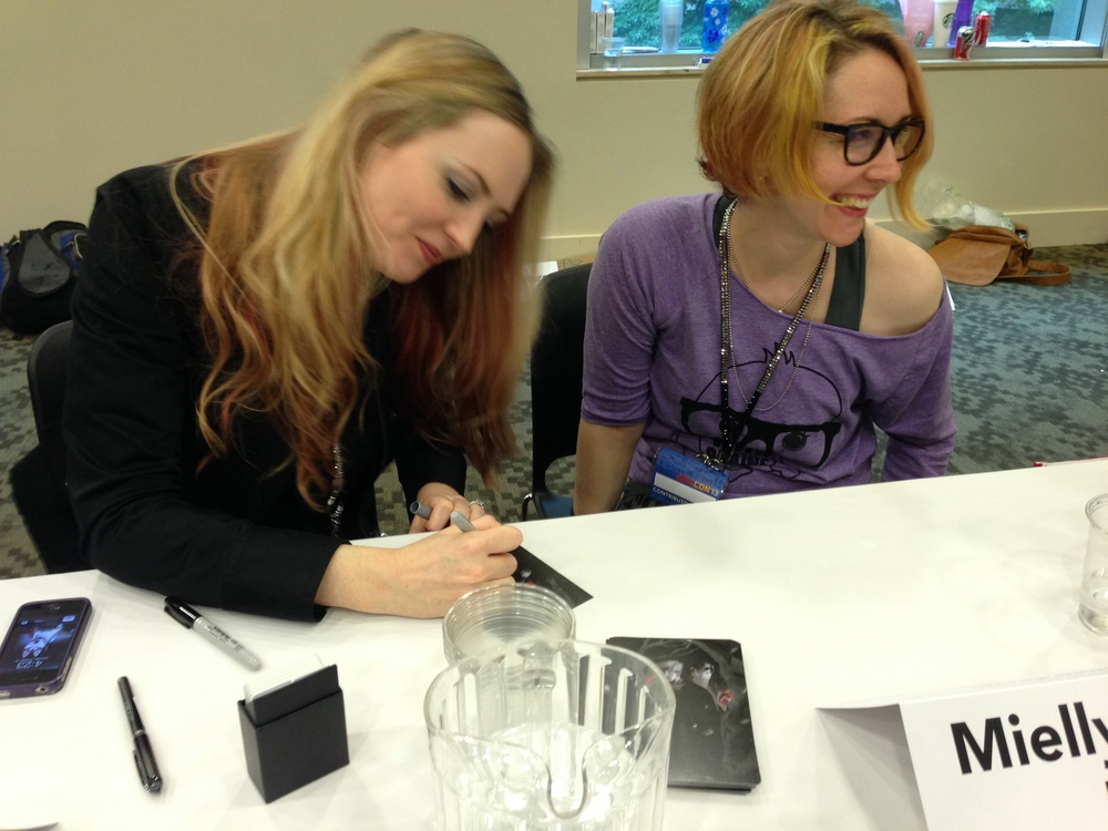 Hilary and I at our signing.