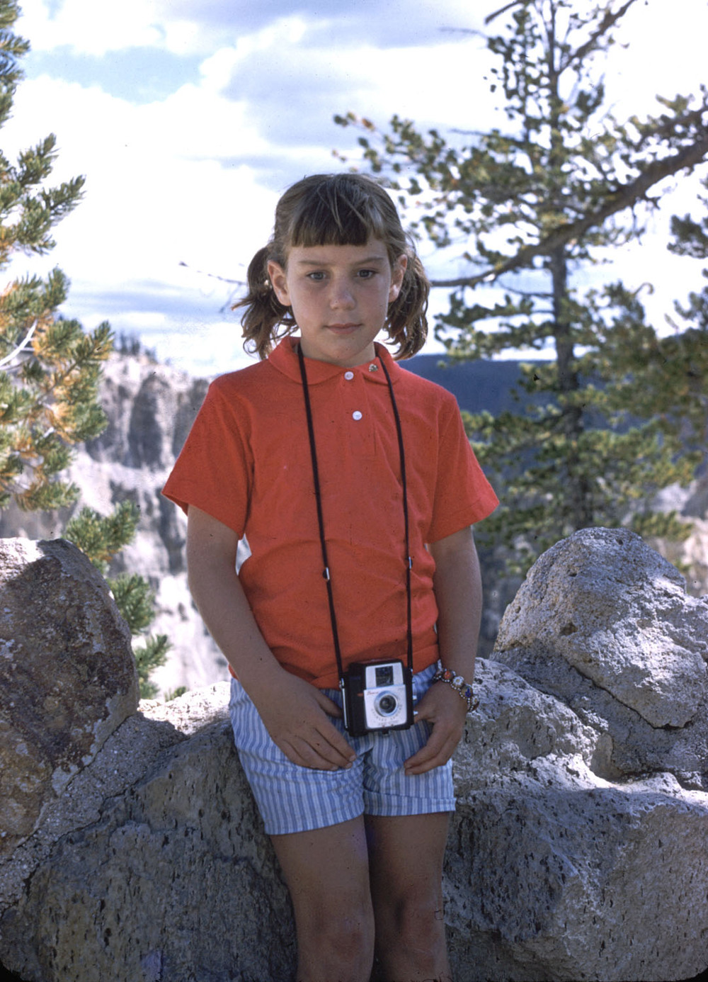 Me with my Brownie camera in Yellowstone National Park