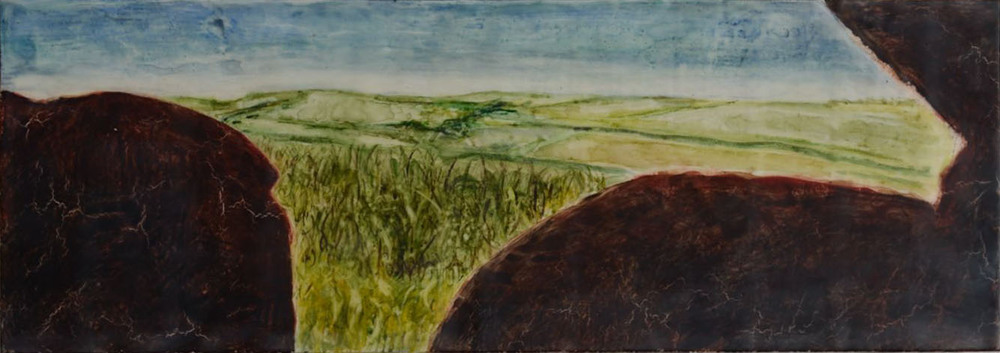 "View from Mulfra Quoit, 10"" x 28"""