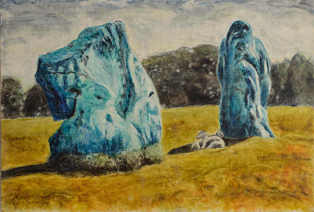 Avebury Stones with Sheep