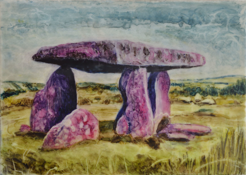 Lanyon Quoit, pink