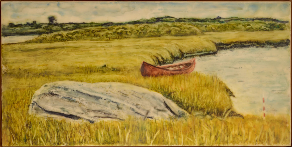 Saltmarsh Shrine with Canoe