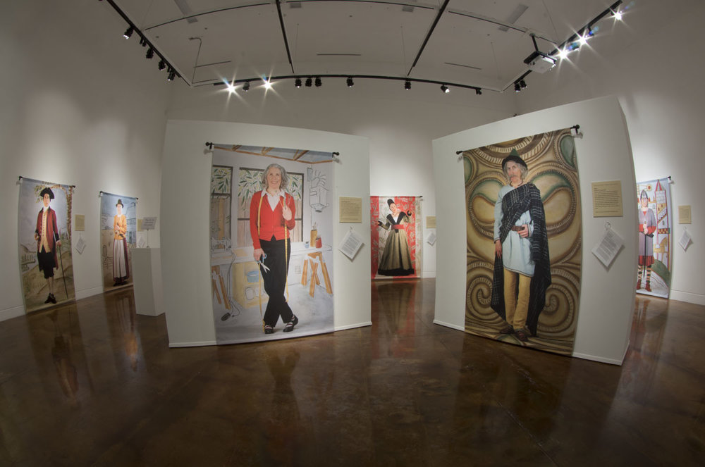 View of exhibit at the Alexander Gallery, Clackamas Community College. Photo by Jim Skates